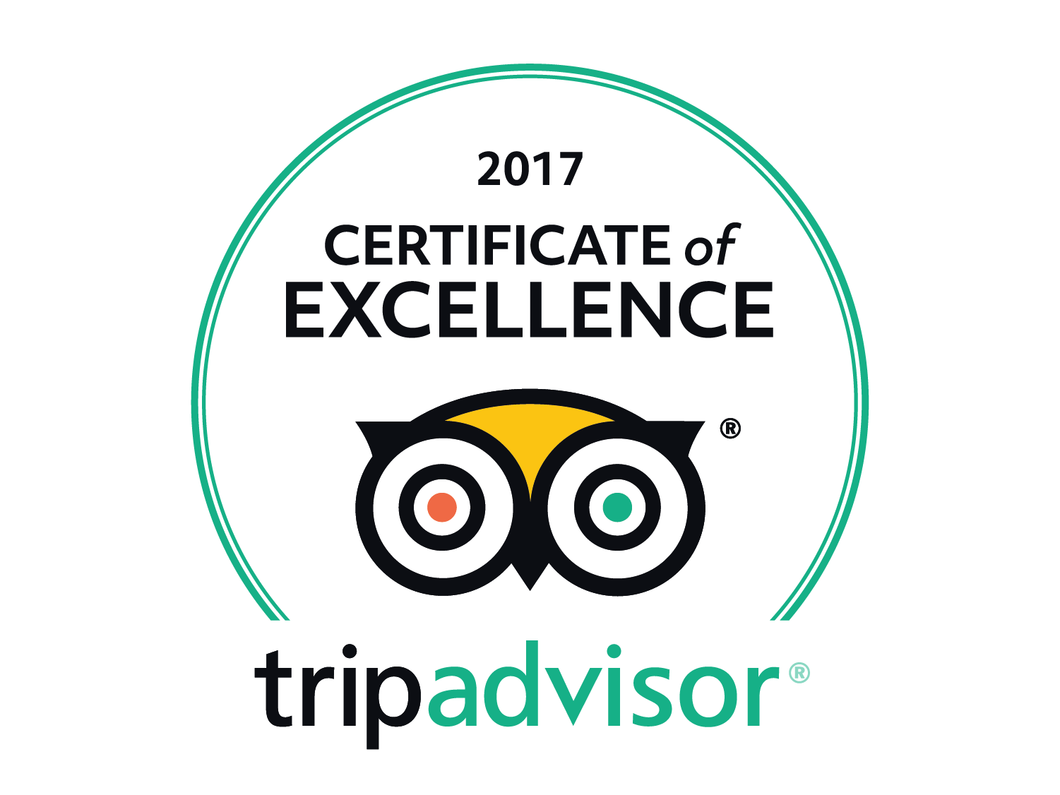 We won a TripAdvisor certificate of Excellence award