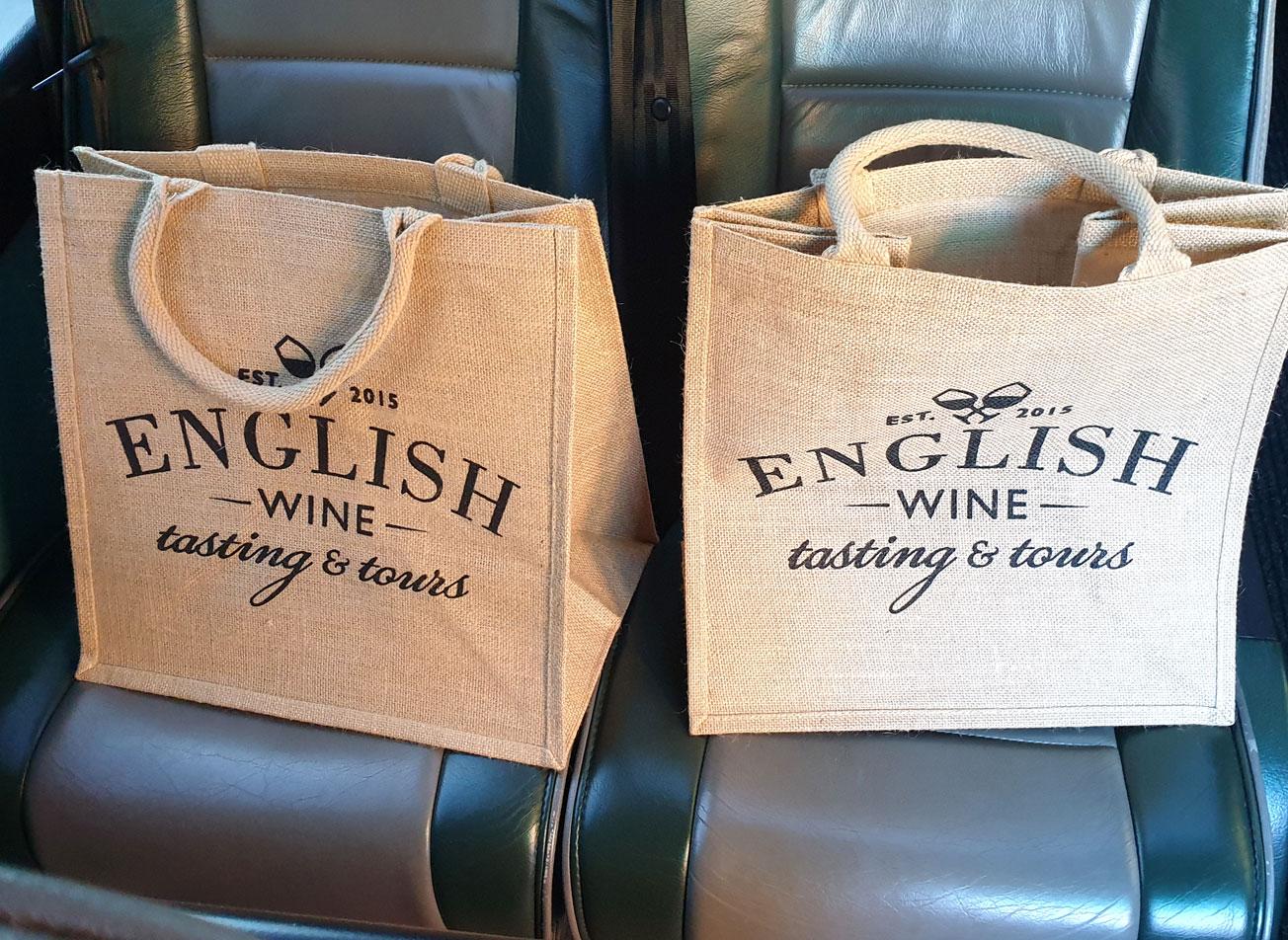 English Wine Tour Goodie Bag